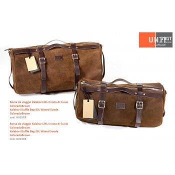 Kalahari 43L bolsa de viaje de corteza de cuero