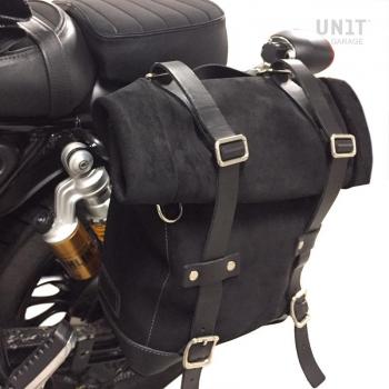 Bolsa lateral de lona + marco Guzzi V9 Bobber SX