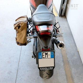 Bolsa lateral de lona + Kawasaki Z900RS Cuadro