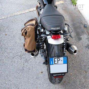 Bolsa lateral de lona + Triumph Cuadro Speed Twin