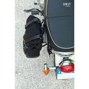 Bolsa lateral de lona + Triumph Scrambler / Bonneville SX frame