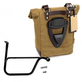 Bolsa lateral de lona + Triumph Speed Twin DX frame