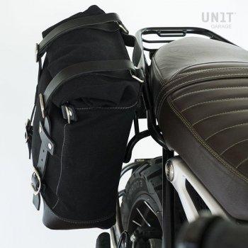Bolsa lateral en piel dividida + marco simétrico doble NineT
