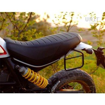 Bolsa lateral en piel dividida + marco Ducati Desert Sled