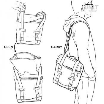 Bolsa lateral en piel dividida + marco R1200 GS LC