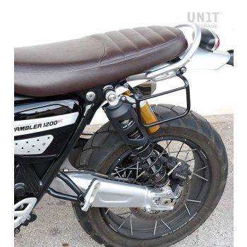 Bolsa lateral en piel dividida +marco izquierdo Triumph Scrambler 1200 XC_XE SX