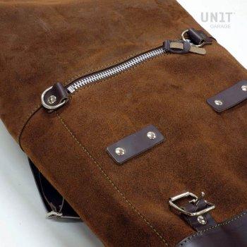Bolsa lateral en cuero dividido + marco T120