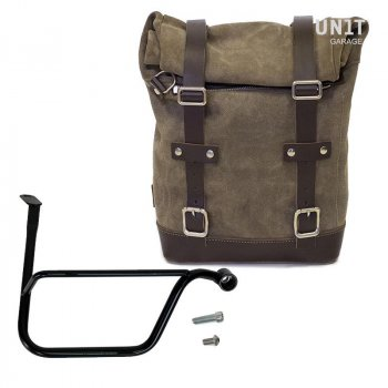 Bolso lateral dividido de cuero + Triumph Speed Twin DX marco