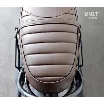 Bolsa lateral en piel dividida + marco Triumph T100-T120 DX (2017<)