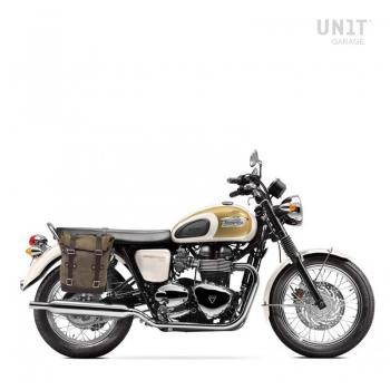 Bolsa lateral en piel dividida + Triumph T100 Bonneville DX (2001-2016)