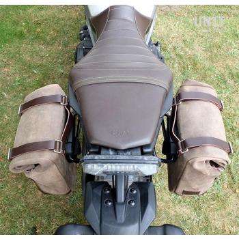 Bolsa lateral en piel dividida + marco Yamaha DX