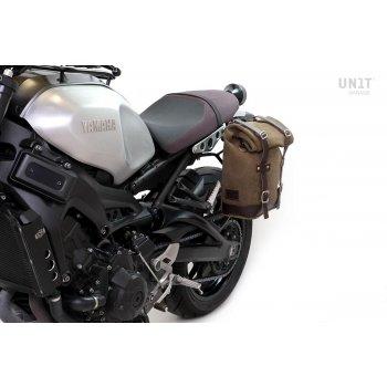 Bolsa lateral en piel dividida + marco Yamaha SX
