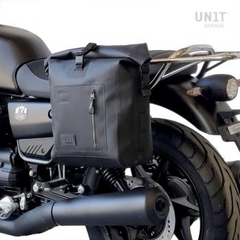 Bolsa lateral Khali TPU + marco izquierdo Guzzi V7.850