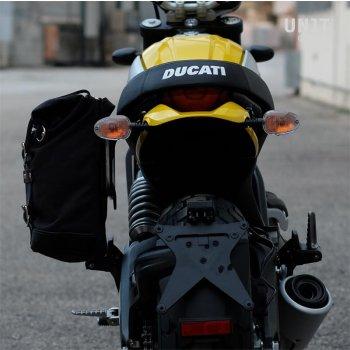 Bolsa lateral + marco Ducati Cafe Racer