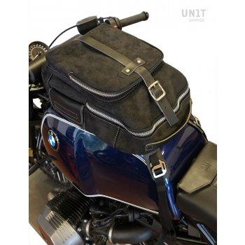 Bolsa de tanque en cuero serraje