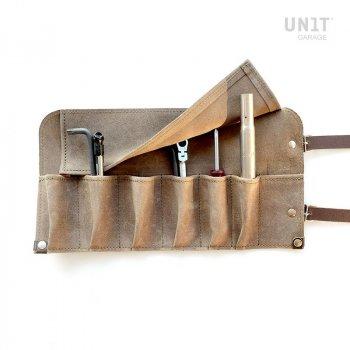 Bolsa de herramientas en cuero serraje