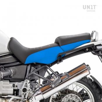 Cubierta de sillín negro / azul