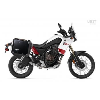 Par de bolsas de aluminio Atlas 40L + 34L con cuadros Yamaha