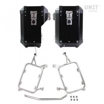 Par de bolsas Atlas en Aluminio 47L + 41L con cuadros R1200GS LC - R1250GS y ADV