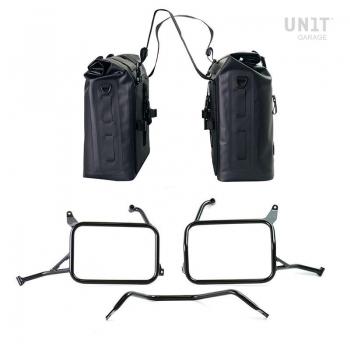 Dos bolsas laterales Khali en TPU 35L - 45L para cuadros Triumph 1200 XC y XE
