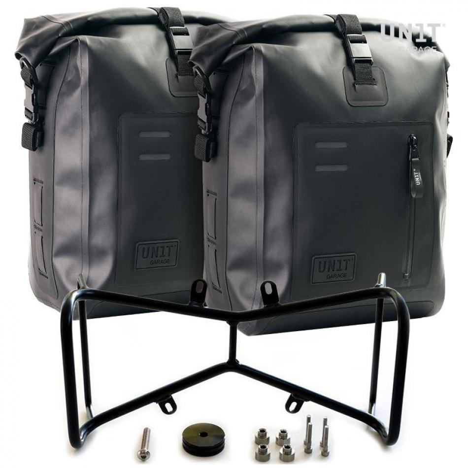 Dos bolsas laterales Khali TPU + marco doble simétrico NineT