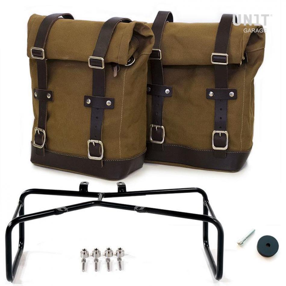 Dos bolsas de lona laterales + doble marco NineT