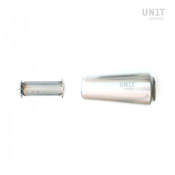 silenciador de titanio bajo + soporte