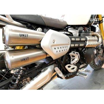 Silenciador Triumph 1200XC & XE con colector sin catalizador