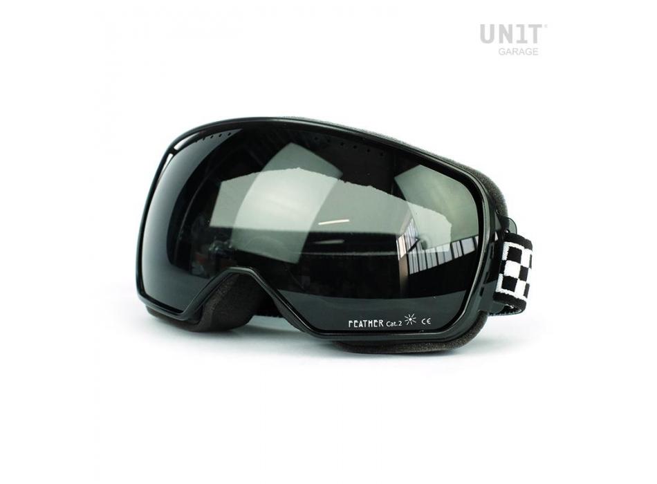 Gafas de plumas de lite negro marco