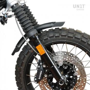 Negro Guardabarros bajo de aluminio de nineT con estabilizador de horquilla