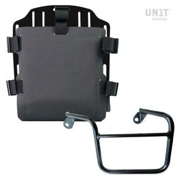 Portabolsa de aluminio con frontal ajustable de Hypalon y enganche rápido + marco