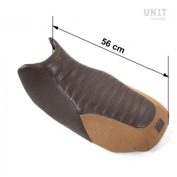 Sillín de cuero marrón, lona R1150R