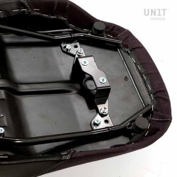 Silla de montar de cuero negra, lona R850R-R1100R