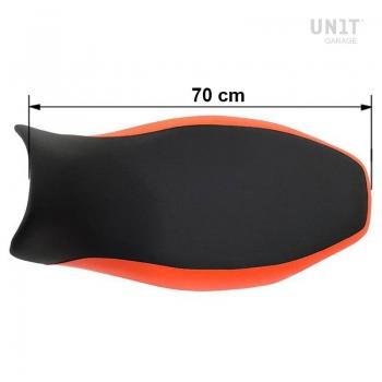 Sillín largo negro / naranja