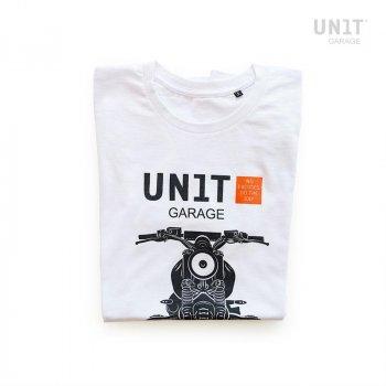 Camiseta blanca de la unidad del garaje