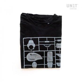 Camiseta negra de la unidad del garaje